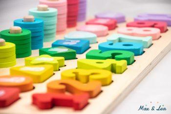 Jouet en bois 2 ans 3 ans enfants apprendre à compter Montessori